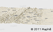 """Shaded Relief Panoramic Map of the area around 37°14'49""""N,113°58'29""""E"""