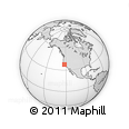 """Outline Map of the Area around 37° 14' 49"""" N, 122° 19' 29"""" W, rectangular outline"""