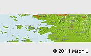 Physical Panoramic Map of Ansan