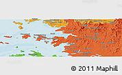 Political Panoramic Map of Ansan