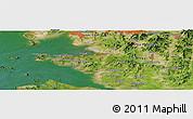 Satellite Panoramic Map of Ansan