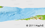 """Physical Panoramic Map of the area around 37°14'49""""N,137°46'30""""E"""