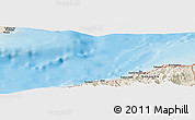 """Shaded Relief Panoramic Map of the area around 37°14'49""""N,137°46'30""""E"""