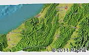 Satellite 3D Map of Kashiwazaki