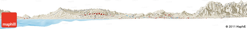 Shaded Relief Horizon Map of Chiyagawa