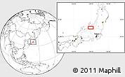 Blank Location Map of Shimo-inazuka