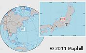 Gray Location Map of Shimo-inazuka