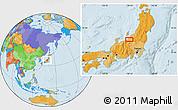 Political Location Map of Shimo-inazuka