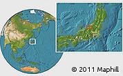 Satellite Location Map of Shimo-inazuka