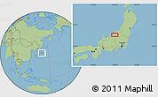 Savanna Style Location Map of Shimo-inazuka