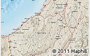 Shaded Relief Map of Kashiwazaki