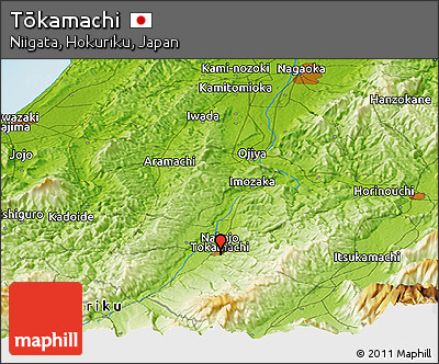 Physical Panoramic Map of Tōkamachi