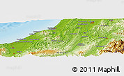 Physical Panoramic Map of Hatsusaki