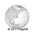 """Outline Map of the Area around 37° 14' 49"""" N, 139° 28' 29"""" E, rectangular outline"""