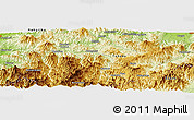 """Physical Panoramic Map of the area around 37°14'49""""N,139°28'29""""E"""