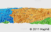 """Political Panoramic Map of the area around 37°14'49""""N,139°28'29""""E"""