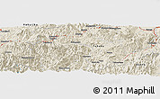 """Shaded Relief Panoramic Map of the area around 37°14'49""""N,139°28'29""""E"""