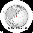 Outline Map of Honshu, rectangular outline