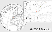 Blank Location Map of Huércal-Overa