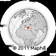 Outline Map of Attica, rectangular outline