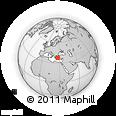 Outline Map of Güllük, rectangular outline