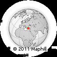 Outline Map of Mugla, rectangular outline