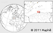 """Blank Location Map of the area around 37°14'49""""N,2°37'30""""E"""