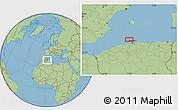 "Savanna Style Location Map of the area around 37°14'49""N,2°37'30""E"