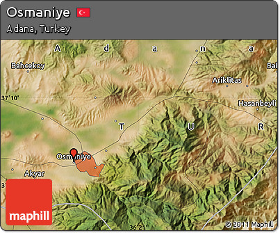 Free Satellite Map of Osmaniye