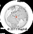 Outline Map of Gaziantep, rectangular outline