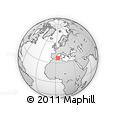 """Outline Map of the Area around 37° 14' 49"""" N, 3° 28' 30"""" E, rectangular outline"""