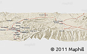 Shaded Relief Panoramic Map of Granada