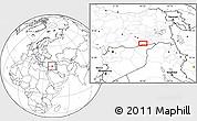 Blank Location Map of Mardin