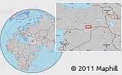 Gray Location Map of Mardin