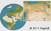Satellite Location Map of Mardin