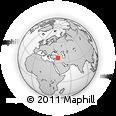 Outline Map of Nusaybin, rectangular outline