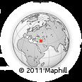 Outline Map of Amedi, rectangular outline