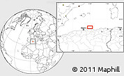 """Blank Location Map of the area around 37°14'49""""N,4°19'30""""E"""