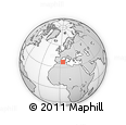 """Outline Map of the Area around 37° 14' 49"""" N, 4° 19' 30"""" E, rectangular outline"""