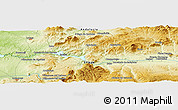 """Physical Panoramic Map of the area around 37°14'49""""N,4°10'30""""W"""