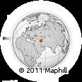 Outline Map of Lahijan, rectangular outline