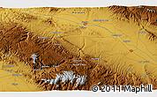Physical 3D Map of Esfarāyen