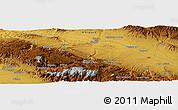 Physical Panoramic Map of Esfarāyen