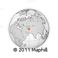 Outline Map of Dargaz, rectangular outline