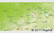 """Physical 3D Map of the area around 37°14'49""""N,5°1'30""""W"""
