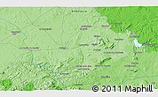 """Political 3D Map of the area around 37°14'49""""N,5°1'30""""W"""