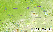 """Physical Map of the area around 37°14'49""""N,5°1'30""""W"""