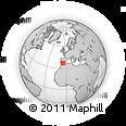 Outline Map of Puente-Genil, rectangular outline