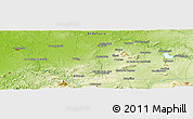 """Physical Panoramic Map of the area around 37°14'49""""N,5°1'30""""W"""