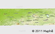 Physical Panoramic Map of Morón de la Frontera